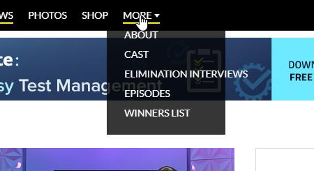 CBS Overextding menu